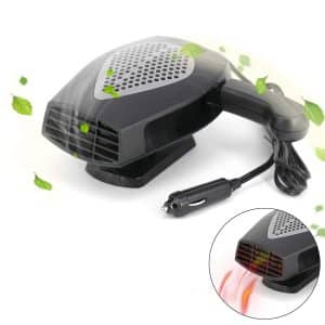 Roydve 12V Portable Ceramic Heater Cooler Fan