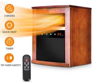 Air Choice Wood Cabinet Electric Space Heater Review