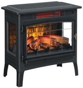 Duraflame Electric Infrared Quartz Fireplace w 3D Flame Effect